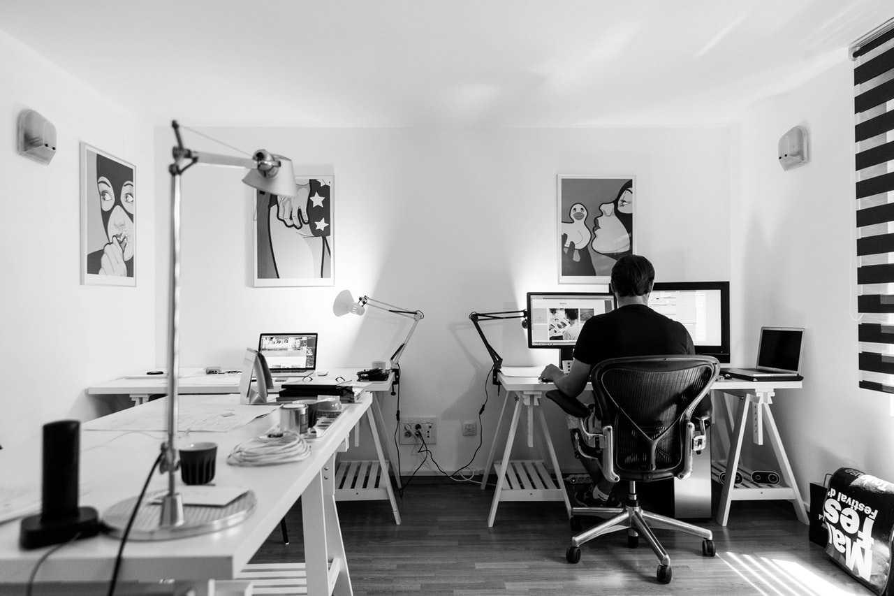 Ett ganska typiskt kontor för en egenföretagare. Behövs facket?