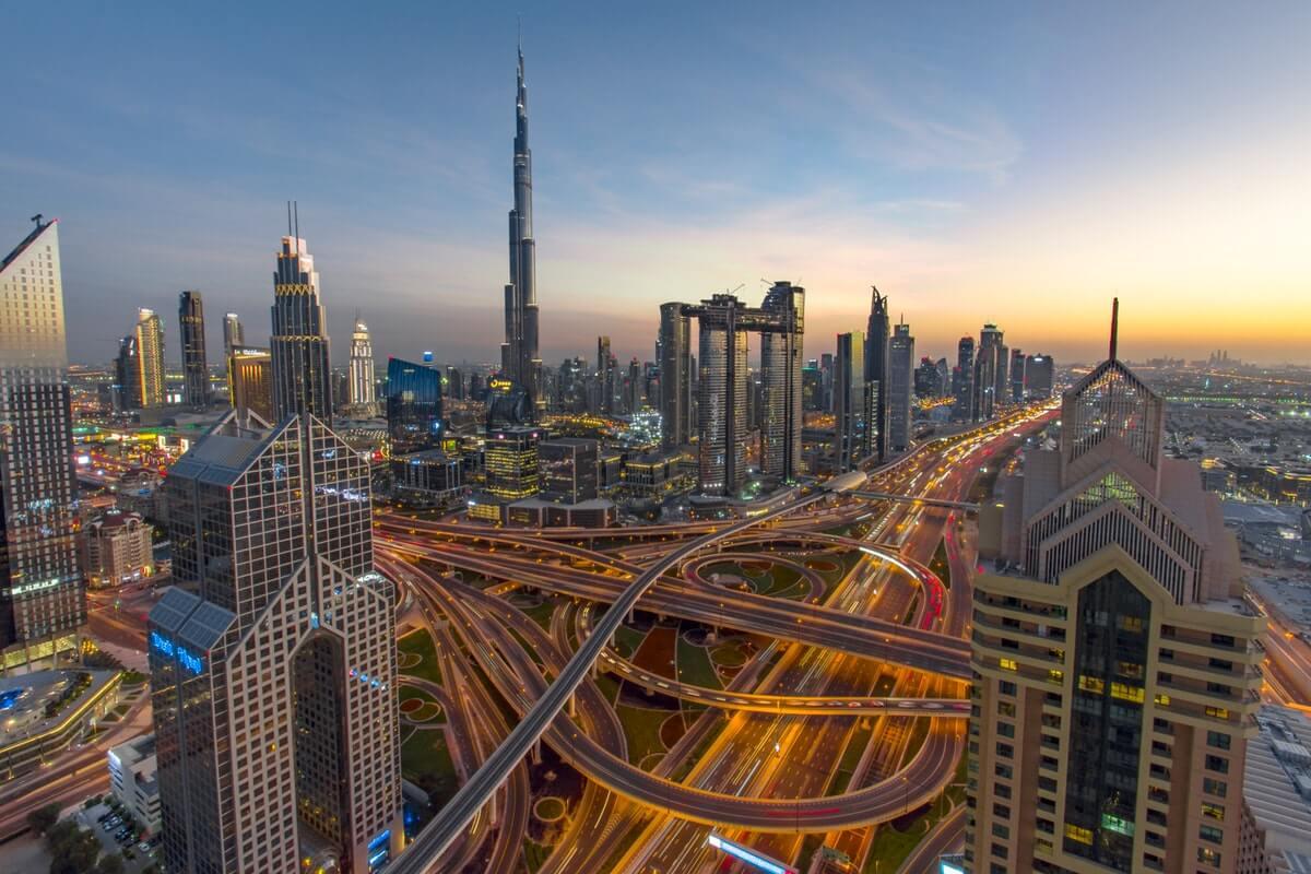 Utomhusbelysning i Dubai.