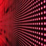 LED lampor i röd färg - panel med ljus