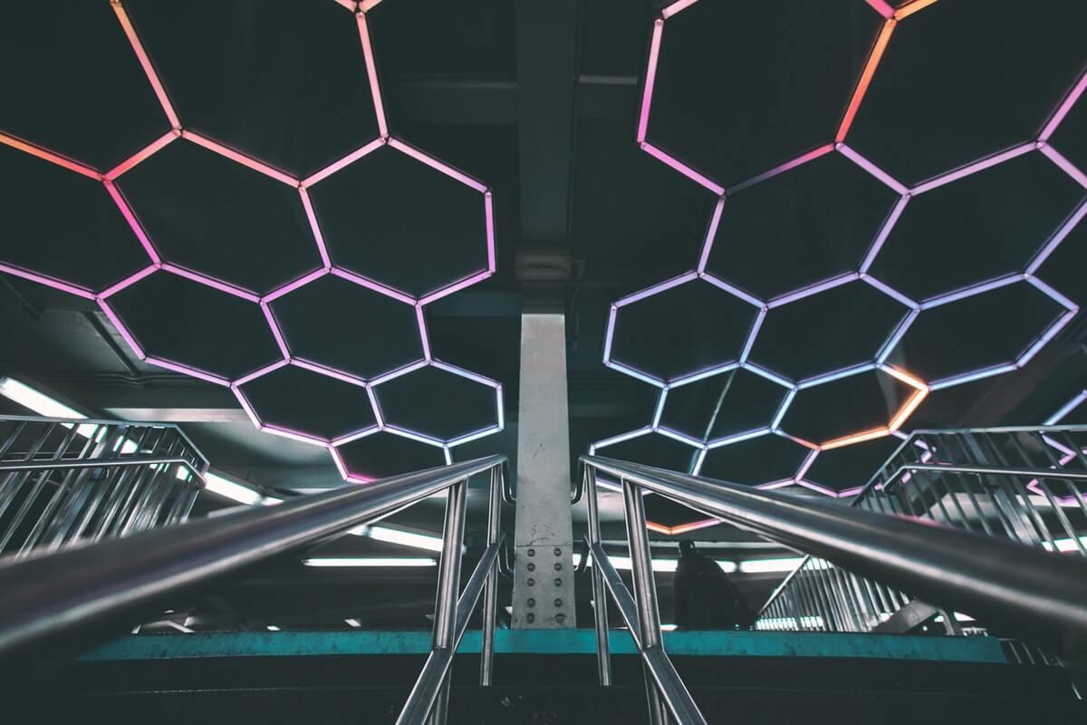 LED-slinga i offentlig miljö