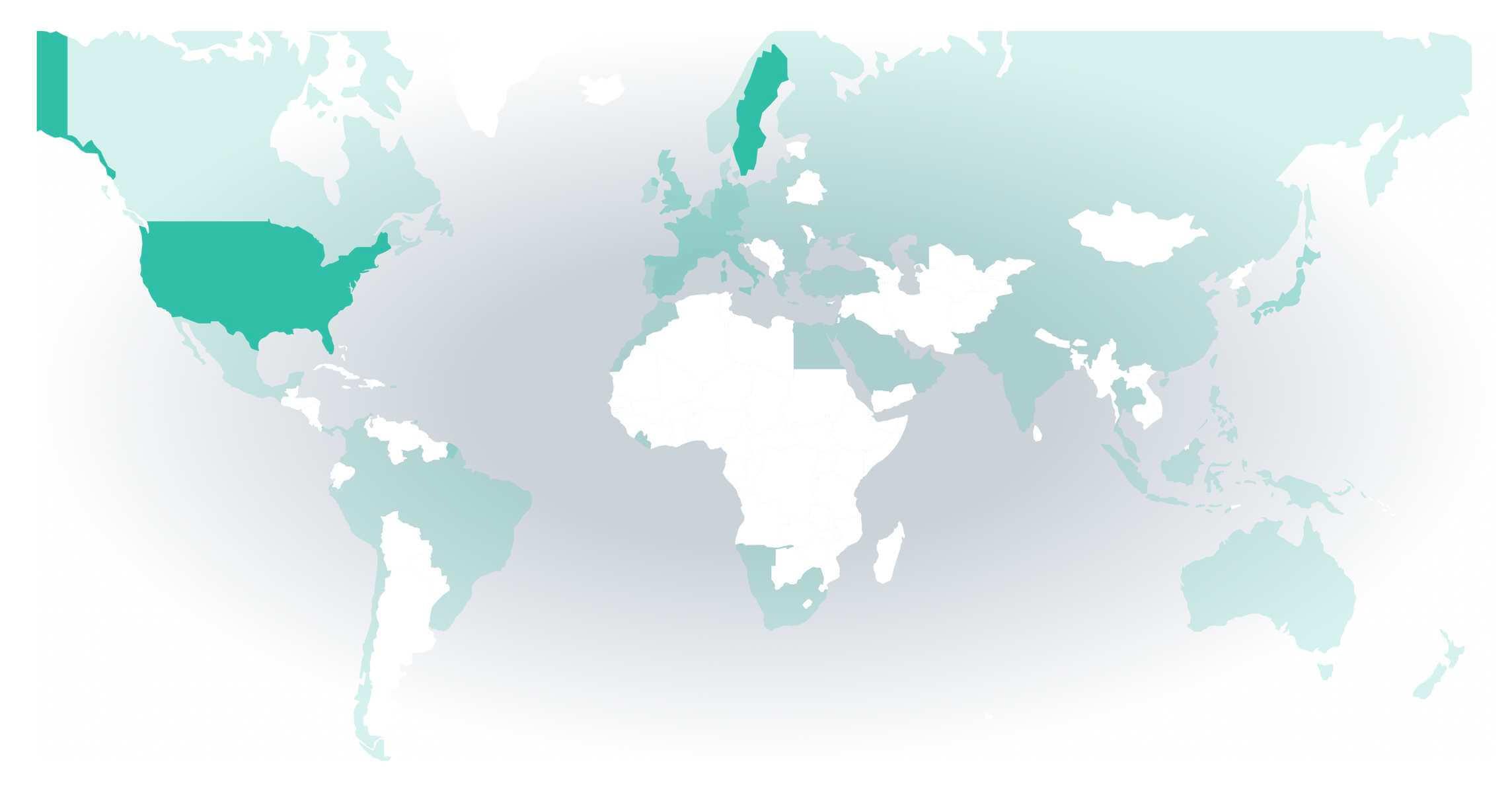 Lysa fondrobot geografisk fördelning