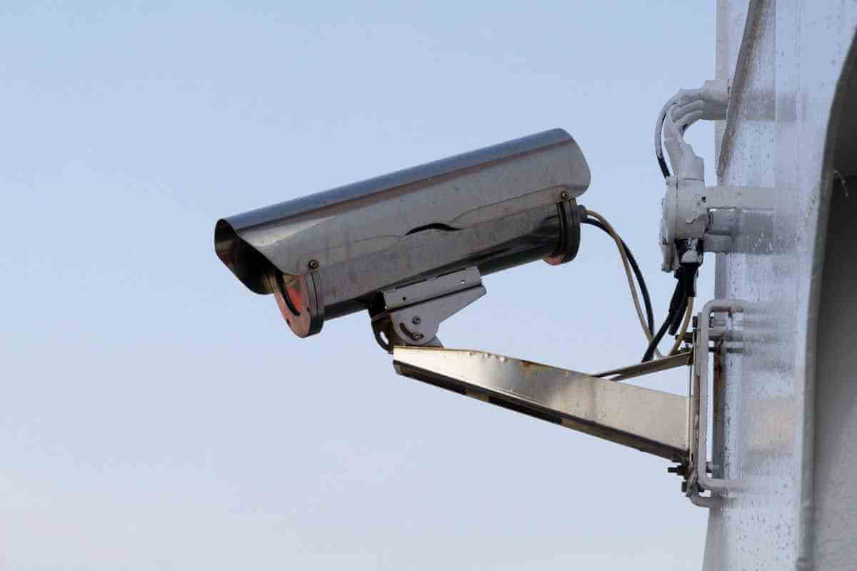 Övervakningskamera - Säkerhet - tre annorlunda aktier