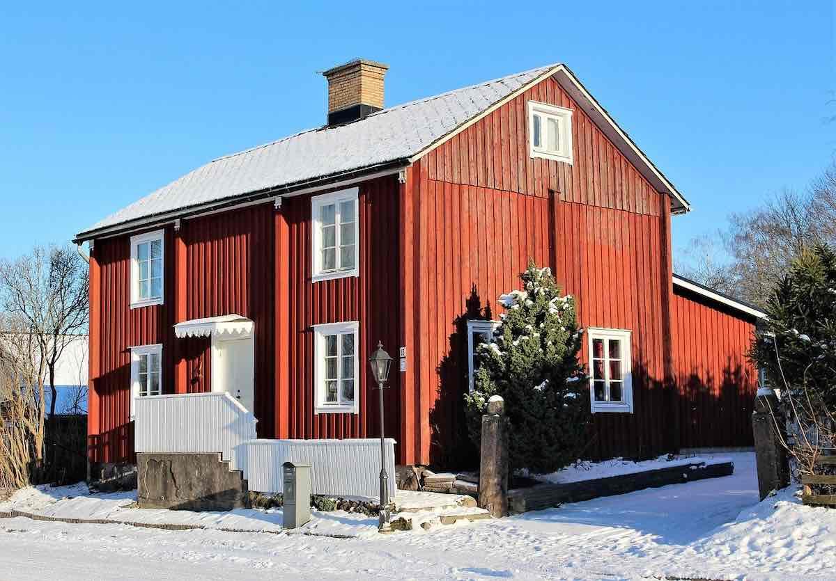 Röd villa - bostadspriser under 2021