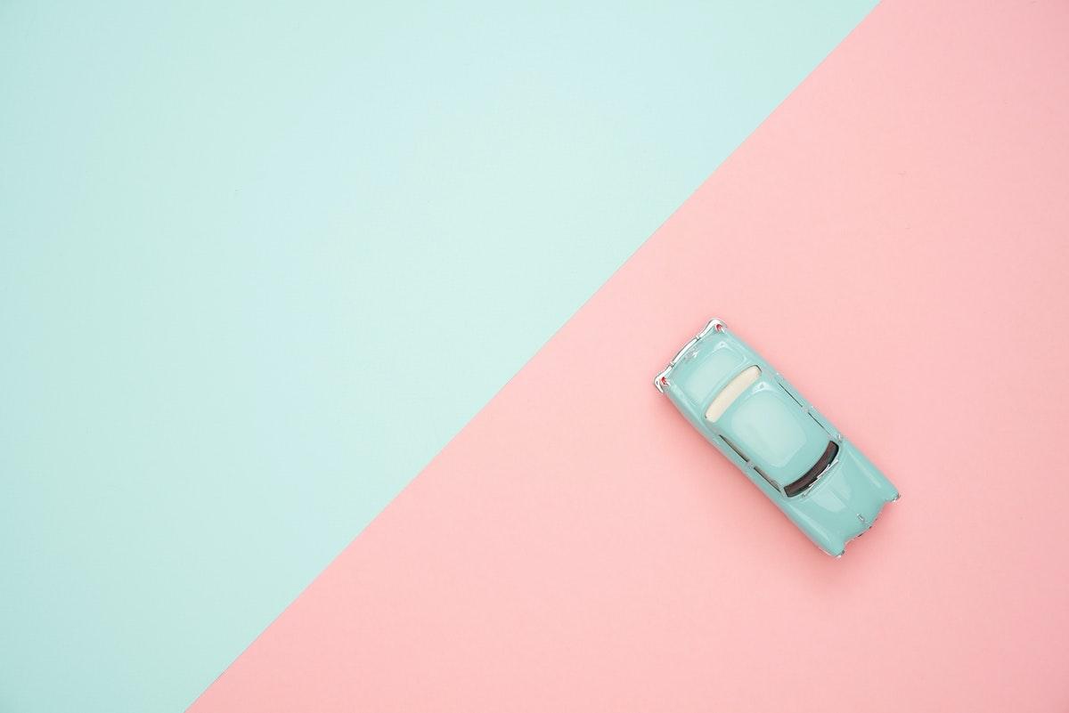 Bil som finansierats med ett blancolån